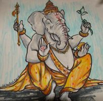 Shree Ganesh by SpottedNymph