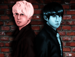 p o l a r:: Jay And Jungmo Painting by NinjaaPoptart
