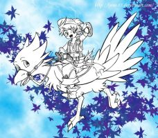 Luso and the Chocobo by Lyrin-83