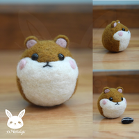 Felted Hamster by xxNostalgic