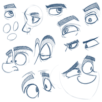 Sketch-a-day 006 - Eye practice by Foxy-Noxy