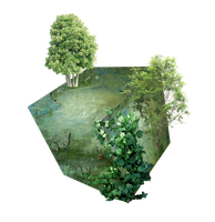 Landscape Cube png by mysticmorning