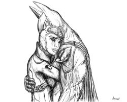 Bruce and Selina by Antimad1