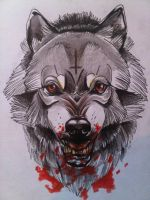 Mr Wolf. by LewisBuckleyArt