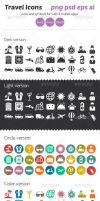 Travel Icons by ottoson