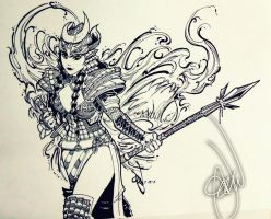 Warrior 'Chick' by alvinsanity