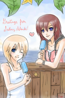 Namine + Kairi -Seasalt Pops- by Kippi