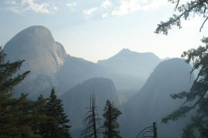 Half Dome and Liberty Cap by Nettelhorst