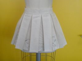 box pleated skirt by sainte-etique