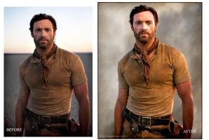 Hugh Jackman Before And After by Pixel2Portrait