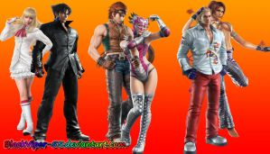 Tekken Wallpaper: Pop Boys and Western Hotties by BlackViper-55