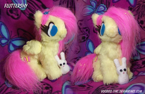 Fluttershy Plushie trade by Voodoo-Tiki