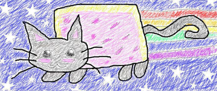 Nyan Cat Scribble Style by stargirlshine