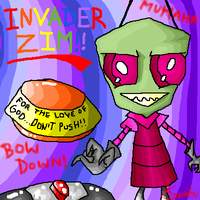 Invader Zim: don't push by Unibrow13