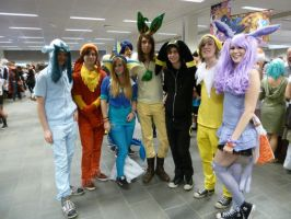 Eevee evolutions cosplay group by Deniozzz