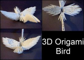 3D Origami Bird by XCrow9X