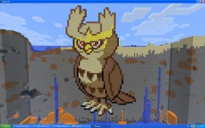 Noctowl On Minecraft by Miccopicco