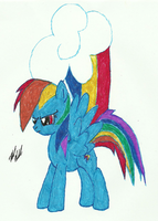 Rainbow Dash in Color by Ratchet-Wrench