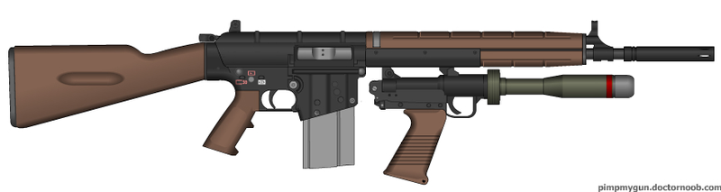 Assault rifle with underslung grenade launcher by AtholTheDestroyer