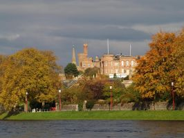 Inverness castle in Autumn by piglet365