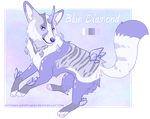 .:CLOSED:. Auction | Blue Diamond by October-Adoptables