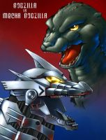Mechagodzilla Vs Godzilla by fcaiser