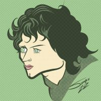 Frodo / Elijah Wood Caricature by LaserDatsun
