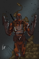 Deadpool by Carlo Barberi Color by JPVilchisartist