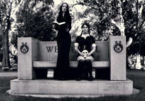 Morticia and Wednesday Addams by XxTaintedLipsxX