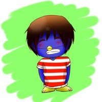 chuggaaconroy penguin by jackiekawaii