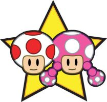Toad and Toadette by chillaxinjackson