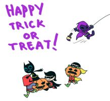 Bat Kids Trick or Treat 2011 by CrimsonHorror