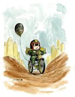 a little late   Judge Dredd by Charles Paul Wilson by AshcanAllstars