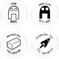 Dave Buttons 01 by b0xman