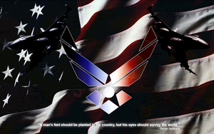 US Air Force Wallpaper by BadWolfArt