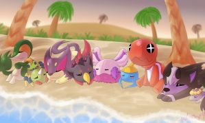 PKMNation :: Beach Nap by DrDoomy
