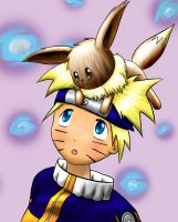 Naruto and Eevee - Request by kawaii769