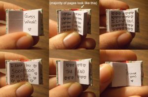 Valentine's Mini Book Details by funkmaster-c