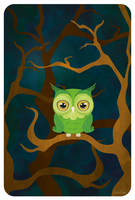 The green owl by Sehikane