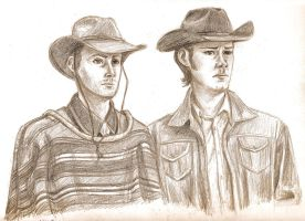 Sam and Dean in Frontierland by blindbandit5