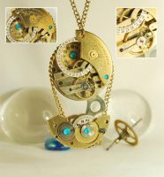 Steampunk Pendant Necklace Commission by Henri-1