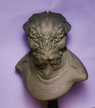 Alien bust # by BOULARIS
