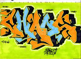 Chaos...an old graffiti sketch by JAmeso90