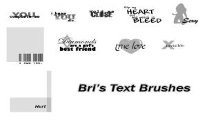 Bri's Text Brushes by rabidbribri
