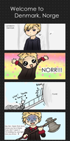 Welcome to Denmark, Norge by cookie-heart