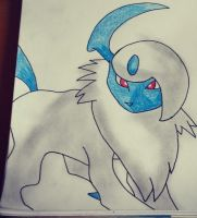 Absol drawing by Krayzieee