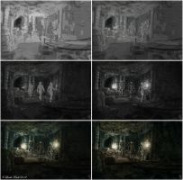 Nightingale Hall Painting Process by Isriana