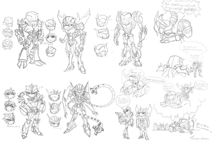 TFP: Practice sketches by Tone-chan