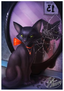 Mirror Kitty by 14-bis