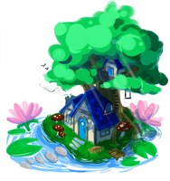itty bitty cottage by seenday